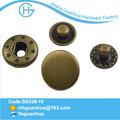 2014 nueva llegada de diseño de la tapa más grueso primavera complemento botones de metal