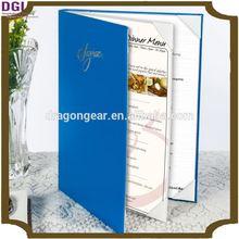 hotel restaurant / shop / bar leather menu cover / holder / folder / menu printing