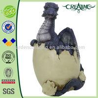 "10"" Dragon Baby Ornament Egg Statue-Hatching Figurine Sculpture Art"