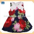 O verão indiano de flor vestido criança projetos bebê meninas vestidos de festa( h3996)