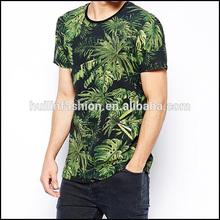 tropical tree print mens t shirt wholesale custom all over print t-shirt