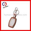 Custom design promotional leather inlay metal Key rings