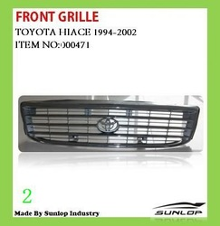 for toyota hiace auto accessories front grill #000100 front grill for hiace old model ,inyathi,golden dragon,jinbei commuter kdh