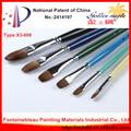 Yüksek kaliteli profesyonel sanatçı boya fırçası uzun kolu öğrenci pirinç yüksük x3-608