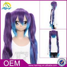 Hot selling 100% kanekalon fiber hatsune miku cosplay wig