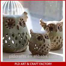 new design ceramic christmas owl candle holder