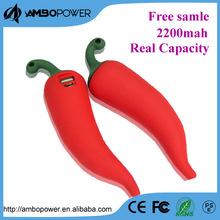 Latest power bank gift 2200mah pepper shape