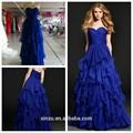 mais barato e elegante azul royal chiffon prom dress