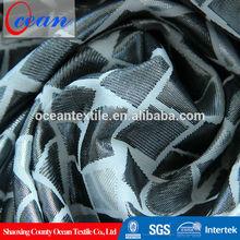 2015 cheap polyester printed metallic brocade fabric