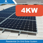 4kw solar electricity generating system for home with 4kw solar grid tie inverter and required solar products