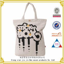 custom printing shopping use customized canvas tote bag