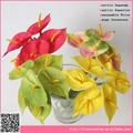 baratos artificiales anthurium estambre flor para la decoración del coche