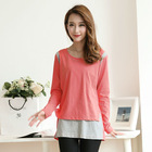 Cotton long sleeve breastfeeding clothes for nursing mommies pregnant women casual wear AK114