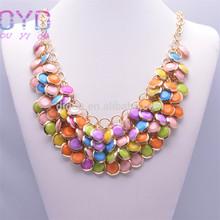 Latest fashion designs bridal colorized necklaces