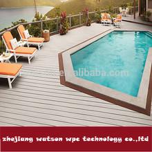 easy lock waterproof 25*150mm flooring around swimming pool
