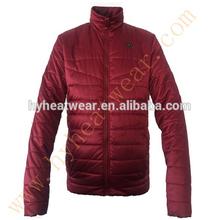 100% cotone uomini giacca invernale ingrosso fabbrica di porcellana batteria ricaricabile giacca riscaldata