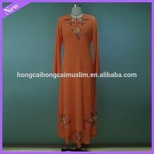New fashion embroidered chiffon design baju kurung 2014