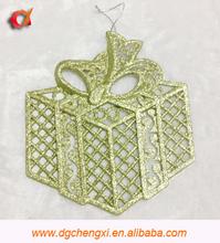 2015 fashional glitter hanging gift box design