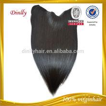 Tangle free unprocessed virgin human hair cheap halo hair extensions