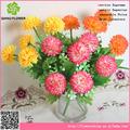 Hermoso arreglo de flores artificiales de china, la carcasa de la perla del crisantemo con 6 ca