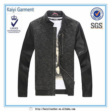 china supplier cheap half pu leather chinese winter coat