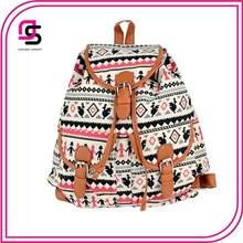 Cheap Canvas Backpack with Cute Printed Rucksack Made in China