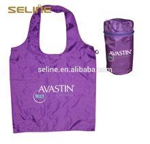 Fashion new design reusable foldable shopping nylon bag wholesale