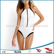 2015 Black Bandeau cross-strap female one piece swimsuit