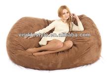 XXL couple foam bean bag lounge exporter in zhejiang