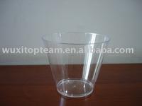 9oz disposable plastic transparent tumbler