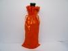 orange velvet wine bag