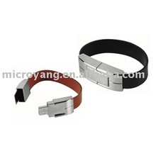 leather bracelet usb flash drive disk,wholesale cheap price storage,customize gift usb memory stick,manufacturer of china,