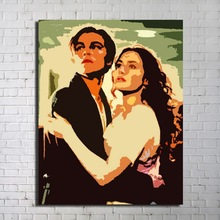 Titanic Picture Pop-Art Famous Love Paintings for Decoration(Jack and Rose)