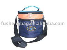 Fashion Round Polyester Food Cooler Bag