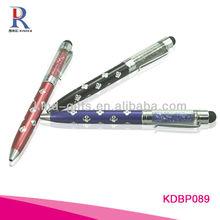 rhinestone shining office stationary ball pen