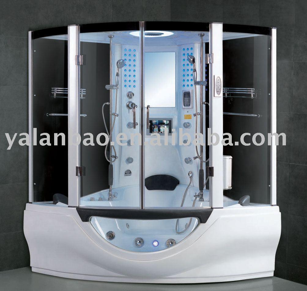 dampfdusche mit sauna und g160 tv dusche zimmer produkt id. Black Bedroom Furniture Sets. Home Design Ideas