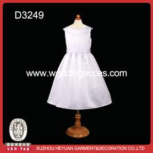 New design round neck girl dress