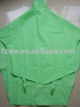waterproof green EVA bicycle rain poncho