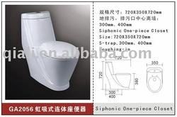 Siphonic one pc sanitary toilet(sanitary toilet)