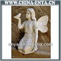 Gusseisen fee mit vögeln, engel statue