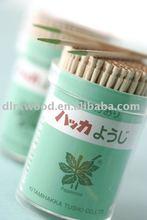 wooden green point mint toothpicks