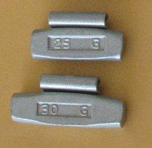 Tire chromed iron wheel weights