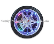 Tire wall clock with LED light