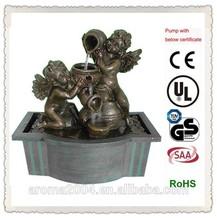 classic fountain polyresin angel figurine