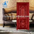Yfg-9001 madeira ferro forjado porta de entrada