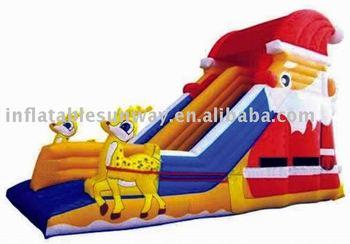father christmas slide ,inflatable water slide