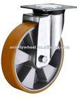 45 European type polyurethane industrial swivel rubber caster wheels