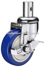 28C PU medical equipment chrome plated wheel