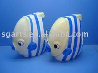 Ceramic Toilet Brush Holder with fish shape