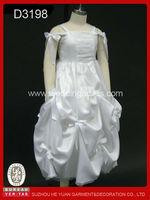 2014 white fashion cute girl party puffy dress